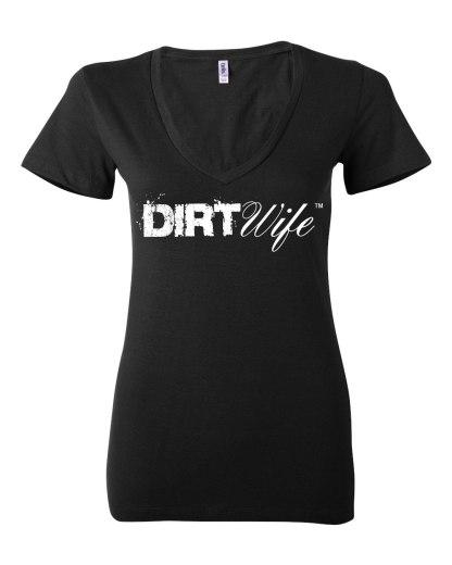 Black Dirt Wife Deep V T - $25