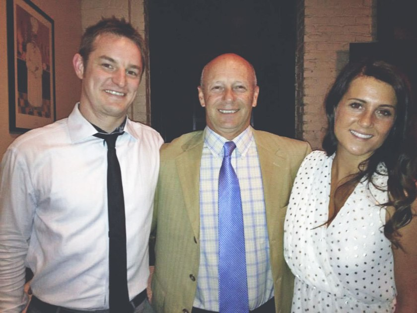 My dad, brother and I at my rehearsal dinner in 2013.